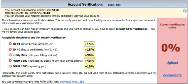 Shipito Verification
